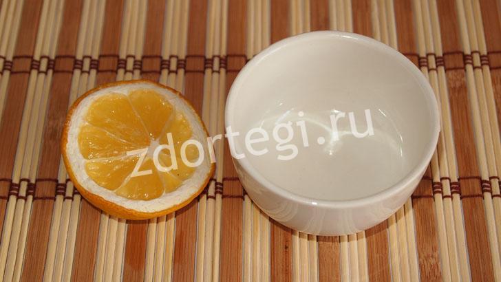 Подготовка к выдавливанию сока из 1/3 лимона