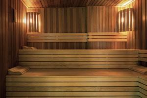 Парилка в современной бане-сауне