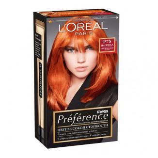 Рыжая стойкая краска для волос