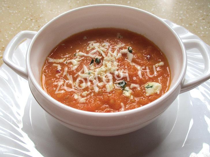 Овощной суп с молотым имбирем