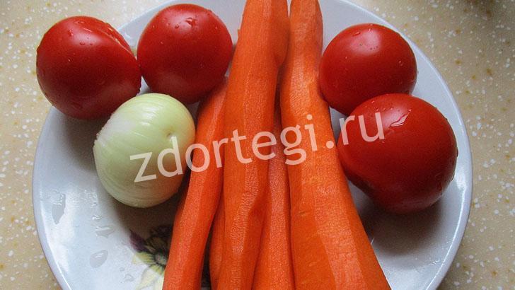 Помытые овощи для нашего супчика