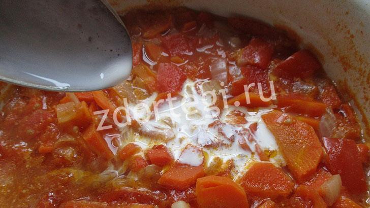 Сливки в супе