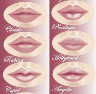 Татуаж губ контур, без контура, с растушевкой, естесвенный