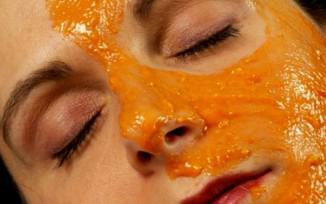 Маска из тыквы для лица