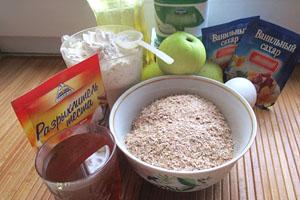 Продукты для готовки кексов
