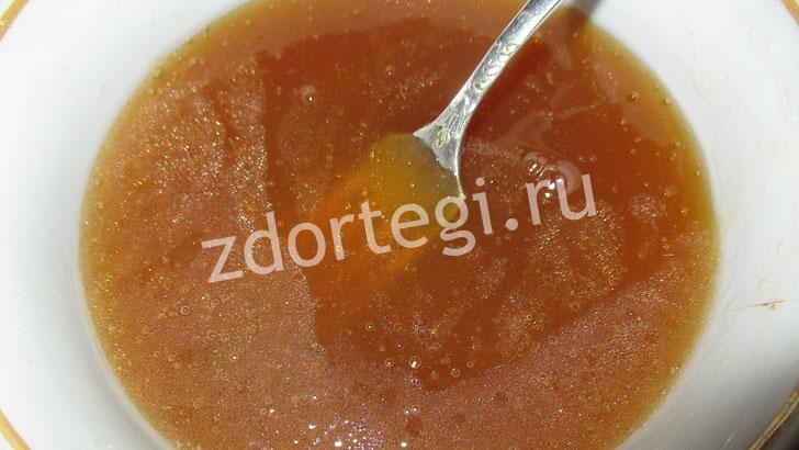 Яично-медово-маслянистая смесь