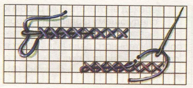 Вышивка крестом схемы нити 617