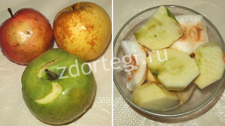 Подготовка яблок для зефира